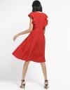Ruffled Dress With Gathered Hem