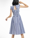 Checked Dress With Cut-Out Back