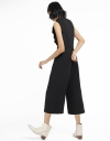 Ruffled Jumpsuit With Tied Back