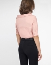 Sleeved Top With Asymmetric Neck