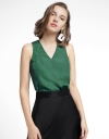 Color Block Top With Cross Back