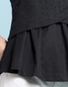 Tweed Top With Gathered Hem