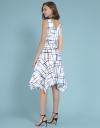 V-Neck Printed Dress With Belt