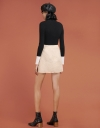 Tweed Mini Skirt With Layered Hem