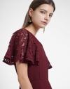 Lace-Trimmed Dress With Flouncy Hem