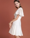 Lace-Trimmed Dress With Flouncy Hem