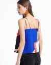 Sleeveless V-Neck Printed Blouse