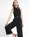 Wide-Leg Jumpsuit With Belt