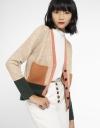 Color Block Knit Coat