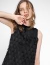 Sleeveless Shift Dress With Tassel Detail