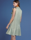 Ruffled Dress With Flouncy Hem
