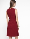 Ribbed Dress With Side Buttons