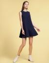 Shift Dress With Asymmetric Hem