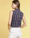Printed Blouse With Tied Neck