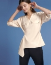 Sleeved Wrapped Blouse