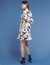 Printed Dress With Ruffled Layer