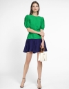 Color Blocked Shift Dress With Belt