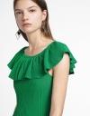 Ruffled Knit Dress With Flouncy Hem