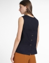 Layered Blouse With Button Back