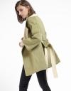 Wool-Blend Coat With Belt