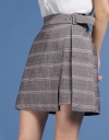 Belted Houndstooth Skirt
