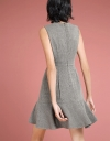 Houndstooth A-Line Dress With Buttons