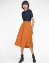 Mid-Rise Midi Skirt