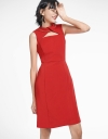 Shift Dress With Cross Front
