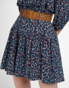Sleeved Floral Dress With Belt