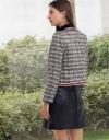 Tweed Blazer With Contrast Braid