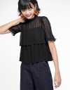 Sleeved Blouse With Layered Detail