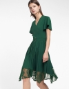Belted Midi Dress With Asymmetric Hem