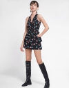 Printed Romper With Layered Detail
