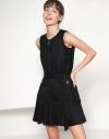 Sleeveless Belted Tweed Dress