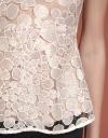 Lace-Trimmed A-Line Blouse