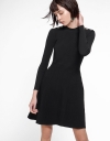 Long Sleeved Knit Dress With Eyelet Detail