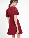 A-Line Dress With Semi-Sheer Front