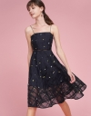 Strappy Embroidered Midi Dress