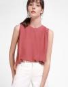 Sleeveless Color Block Blouse