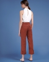 Straight-Leg Pants With Pockets