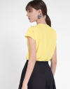 Sleeved Top With Pleated Detail