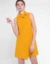 Sleeveless Shift Dress With Layered Front