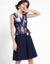 A-Line Dress With Floral Prints