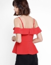 Strappy Top With Ruffles