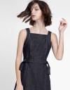 Denim Dress With Waist Panel
