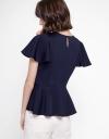 Sleeved Top With Embellished Neckline