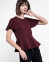 Sleeved Top With Embellished Neckline