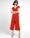 V-Neckline Jumpsuit With Belt