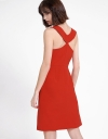 A-Line Dress With Cut-Out Back