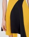 Asymmetric Color Block Dress